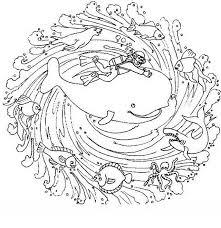 Mandala Disegno Da Colorare Gratis 40 Con Gli Animali Del Mare