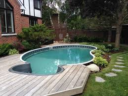 84 great aboveground swimming pool ideas above ground pool deck ideas landscape partial s13