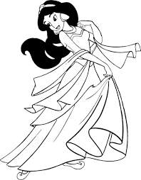 Small Picture Princess Jasmine Coloring Pages One of The Disney Character