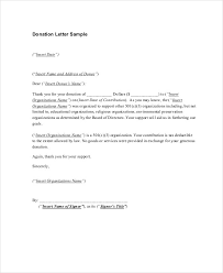 sle thank you letters for donations