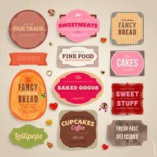 Label Design Templates Food Label Designs Cute Food Labels Design Vector 01 D E S I G N