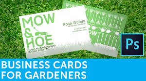 Small Picture How To Design A Landscape Gardener Business Card In Adobe