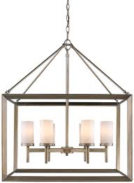 golden lighting 2073 6 wg smyth contemporary white gold chandelier lamp loading zoom
