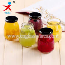 100ml clear glass jam jar canisters and locking lids supplier