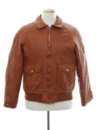 vintage eighties leather jacket 80s no label mens sienna brown background leather classic er jacket with foldover collar