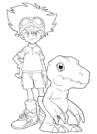 Small Picture Free Printable Digimon Coloring Pages For Kids