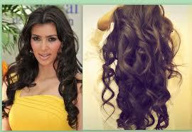 Hair Style Curling  Kim Kardashian Hair Tutorial How To Curl Long Hair Big 2724 by wearticles.com