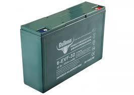 <b>Тяговый гелевый аккумулятор RuTrike</b> 6-EVF-32 (12V32A/H C3 ...