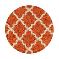 maxy home bella collection orange 5 ft x round area rug be