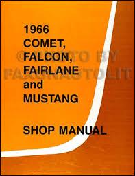 1966 ford cd repair shop manual parts book mustang fairlane related items