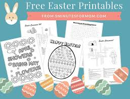 Small Picture Free Easter Printables for Kids Coloring Sheets and Crosswords