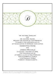 invitations to print free diy printable wedding invitations templates