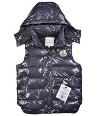 Cheap Moncler Women Vests Down Navy,moncler store,Low Price Guarantee