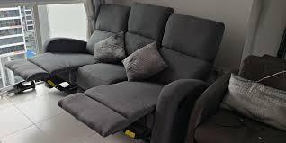 3 seater fabric recliner sofa set