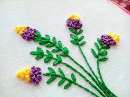 French Knot Stitch Designs Hand Embroidery Floral Embroidery Design French Knot