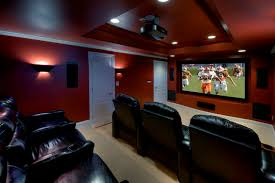 Inspiration for a mid-sized contemporary enclosed carpeted home theater  remodel in DC Metro with