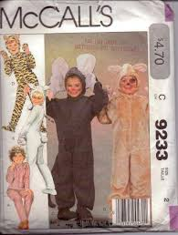 Halloween Costume Patterns New McCall's 48 Toddlers Tiger Cat Mouse Bunny Halloween Costume