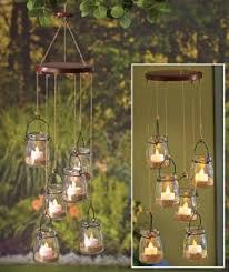 sets of 6 dangling mason jar garden chandelier tea light candle holder tree porch patio indoor outdoor decoration in on alibaba com