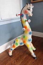 Vintage Giraffe Coat Rack Rare Vintage 100's Edward Mobley Giraffe Coat Rack Sun Rubber Blow 2