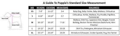 Puppia Dog Harness Size Chart Goldenacresdogs Com