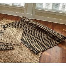 basketweave jute rug black and natural 6ft x 9ft