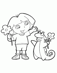Dora The Explorer Coloring Pages Creative Coloring Pages