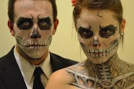 picture of skeleton makeup