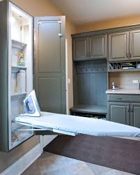 Extra light inside the ironing board cabinet