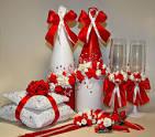 Красный свадебный набор своими руками 173