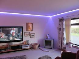 living room led lighting design. project showing led coving lighting living room led design