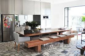 Best Modern Dining Table With Bench Contemporary - Liltigertoo.com .