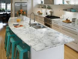 l shaped eat in kitchen with laminate countertops white backsplash and stainless steel appliances turquoise