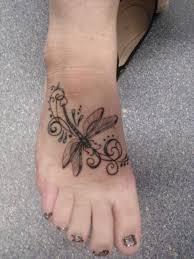 Stylish Dragonfly Tattoo On Foot By Wolfie Miyaku