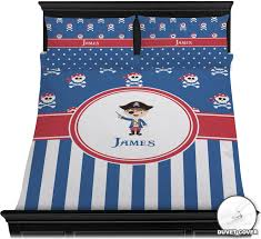 blue pirate duvet cover set personalized