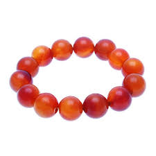 <b>Red Agate Bracelet</b> - 16mm