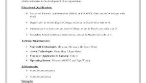 Resume Template Format Resume Format Sample Example Of Resume Format