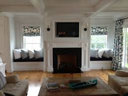 Best Fireplace Between Windows Ideas Only On Pinterest