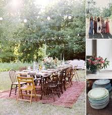 Colorful BlackTie Summer Backyard Wedding In Michigan Summer Backyard Wedding