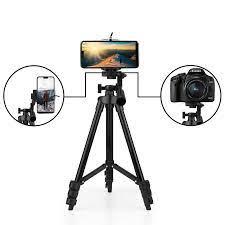 Giá đỡ tripod 3 chân xoay ngang dọc hỗ trợ chụp ảnh, livestream nhẹ gọn  tặng kèm đầu kẹp điện thoại 2 lỗ chắc chắn - Chân Máy Ảnh, Monopod, Tripod  Hãng