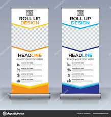 banner design template roll banner design template vertical abstract background pull design