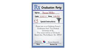 doctor prescription pad medical prescription pad graduation invitation zazzle com