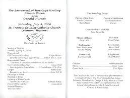 Wedding Program Word Template
