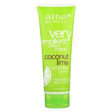 alba botanica moisturizing cream shave for men and women coconut lime 8 fl oz