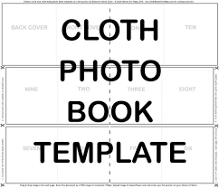Payment Book Template Delectable Cloth Photo Book TEMPLATE For SPOONFLOWER Cut Sew Fat Etsy