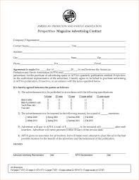 Radio Advertising Agreement Template Agency Contract With Timeline ...