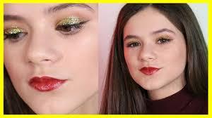 glittery gold new year s eve makeup tutorial kittiesmama