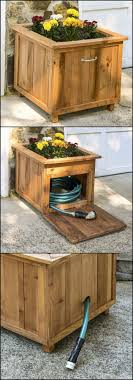 garden hose box. Build A Garden Hose Storage With Planter! | DIY Projects For Everyone! Box L