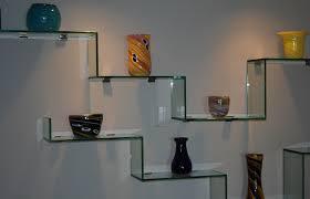 shelf decor glass