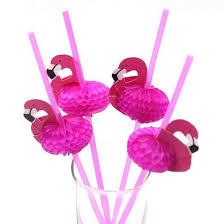 <b>10 Pcs</b> Hot <b>Flamingo</b> Christmas Decoration <b>Paper</b> Drinking Straws ...