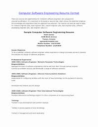 Sample Resume For Software Engineer Internship Valid Software